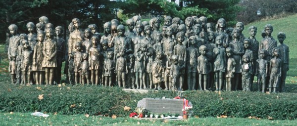Memorial children Lidice Czech Republic Nazi WWII