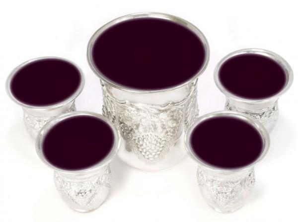 Cinque tazze di vino seder pasquale Coppa di Elia-redenzione