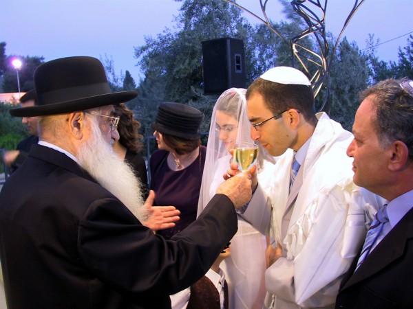 A Jewish wedding in Israel.