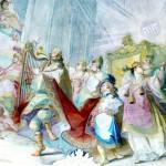 A fresco of King David dancing before the Ark by Johann Baptist Wenzel Bergl (Photo by Wolfgang Sauber)