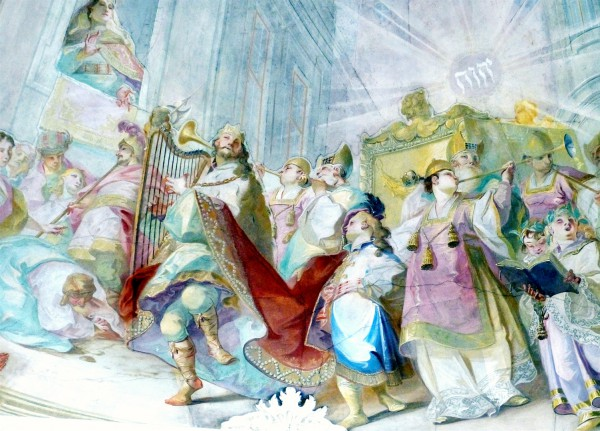 A fresco of King David dancing before the Ark by Johann Baptist Wenzel Bergl (Photo by Wolfgang Sauber)
