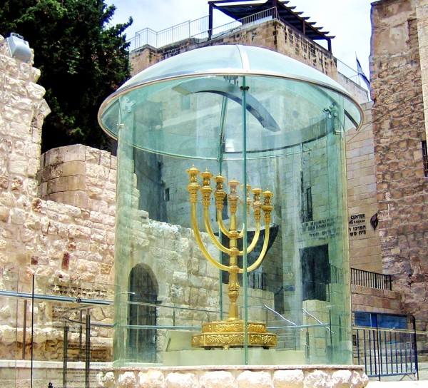 The Temple Institute in the Old City of Jerusalem has created a golden Menorah that is similar to the one used in ancient times in the Holy Temple. When the Third Temple is built, this one will be consecrated for use in the Temple.
