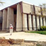 The Mishkan Shilo Synagogue in the community of Shilo is a replica of the Biblical Tabernacle.