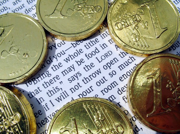 tithing, coins, Bible