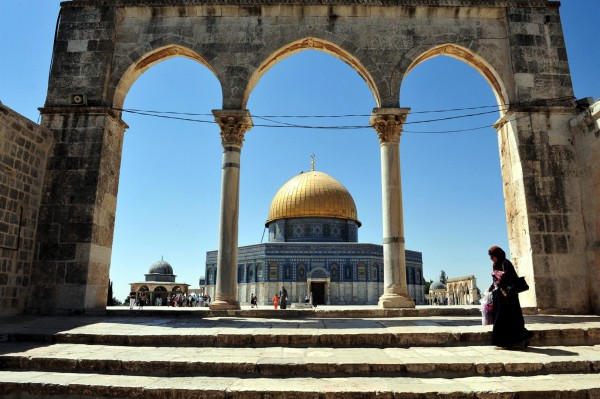 The Golden Dome of the Rock was built to occupy the spot where the Holy of Holies once was situated.