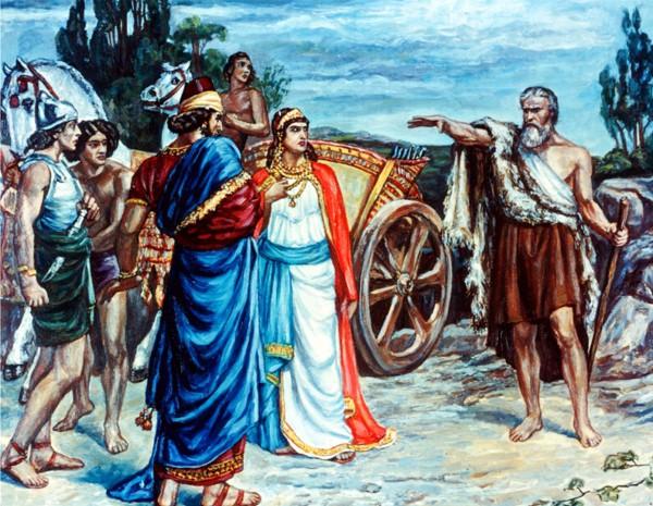 Jezebel and Ahab Meeting Elijah in Naboth's Vineyard, by Sir Francis Dicksee