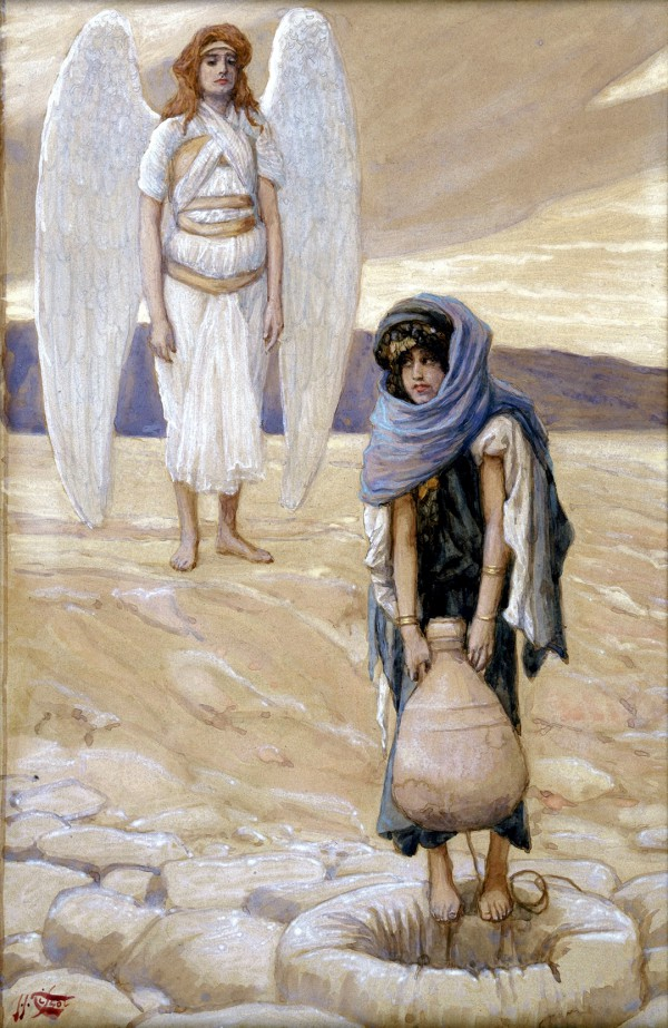 Hagar and the Angel in the Desert, by James Tissot