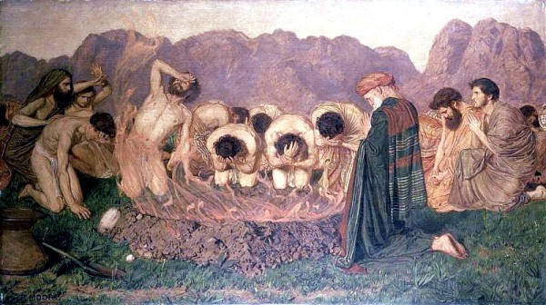Elijah's Sacrifice, by Albert Joseph Moore