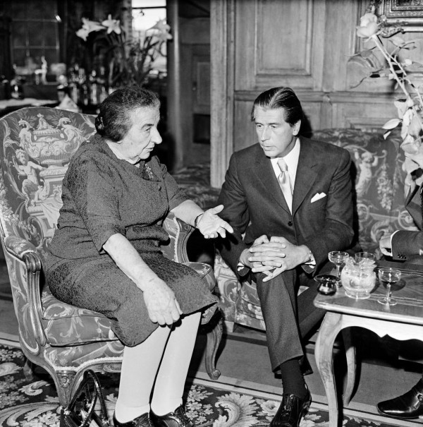 Golda Meir, Prime Minister of Israel and Lujo Toncic-Sorinj, Secretary General of the Council of Europe (Council of Europe photo, November 1, 1973, Strasbourg)