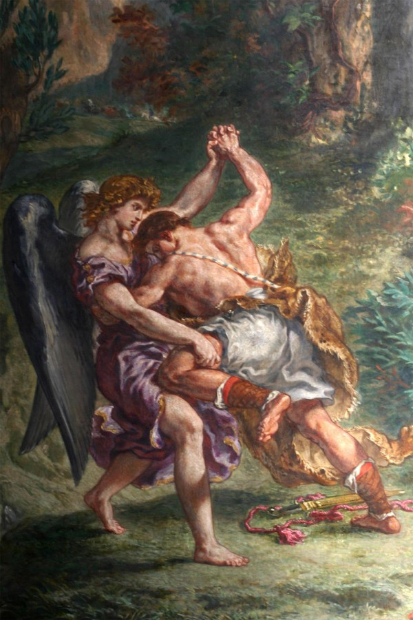 Detail of Jacob Wrestling with the Angel, by Eugene Dalacroix