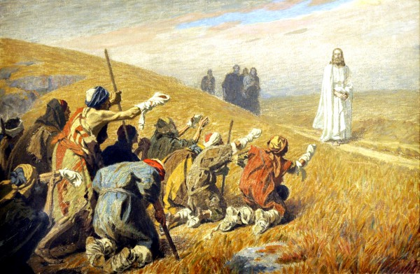Messiah and the Lepers, by Gebhard Fugal-tzaraat-leprosy