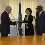 ICC presents Rome Statue to Palestinian Authority foreign affairs rep, Riad Almalki