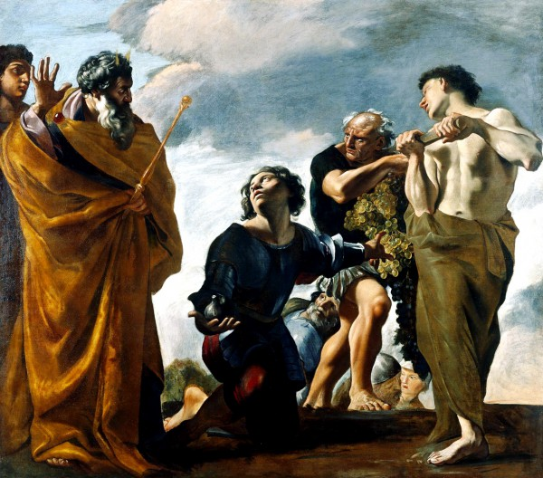 Moses and the Messengers From Canaan, by Giovanni Lanfranco