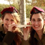 IDF soldiers eat matzah in the field