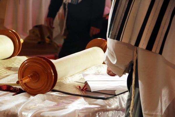 Open Torah scroll