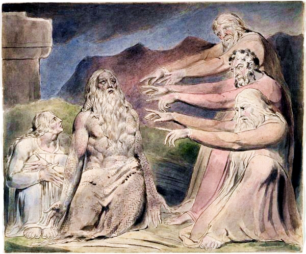 Job Rebuked by His Friends, by William Blake