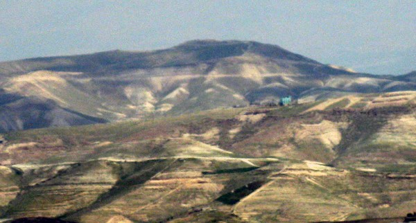 Mount Azazel (Jabel Muntar) in the Judean Desert, to which the goat was sent, and from which it was pushed. (Wiki Commons photo by Deror Avi)
