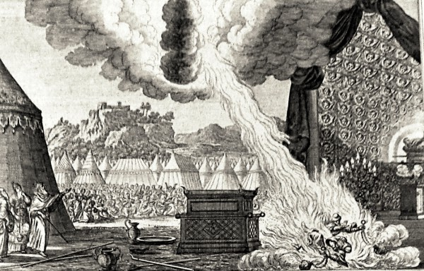Nadab and Abihu Destroyed (Phillip Medhurst Bible Pictures)