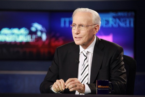 Sid Roth on the set of It's Supernatural