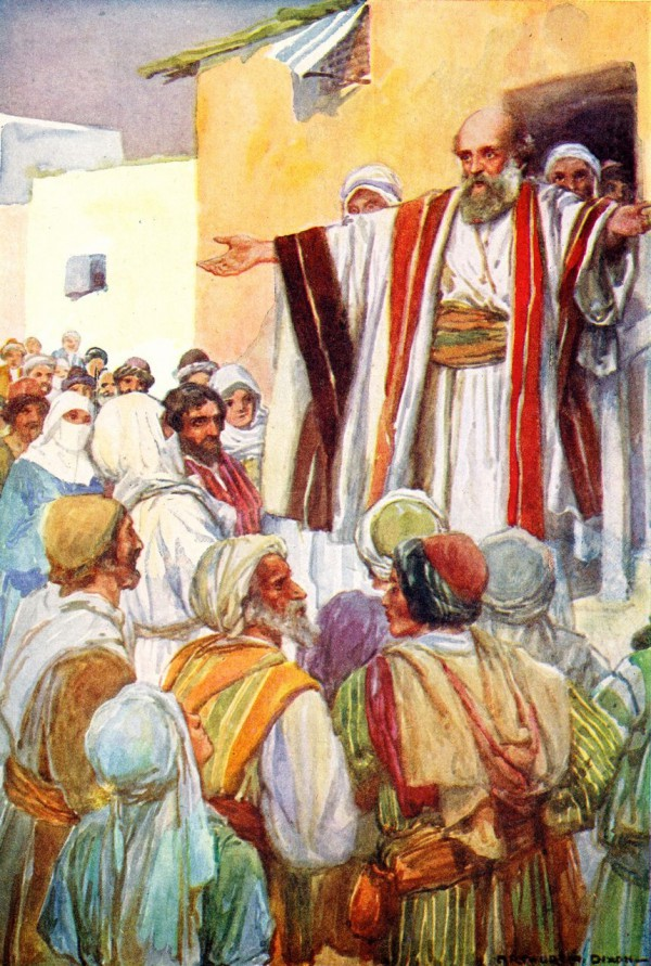 Peter Preaches to the Jews on Pentecost, by Author Dixon