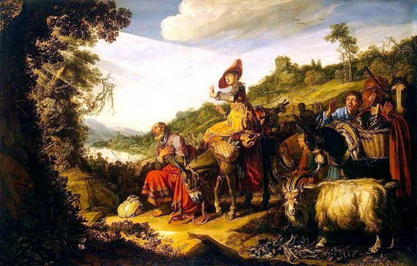 Abraham's Journey to Canaan, by Pieter Lastman
