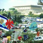 Knesset-Israeli parliament-Jerusalem flags