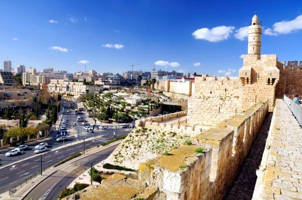 Jerusalem, as seen from the Old City of Jerusalem Walls