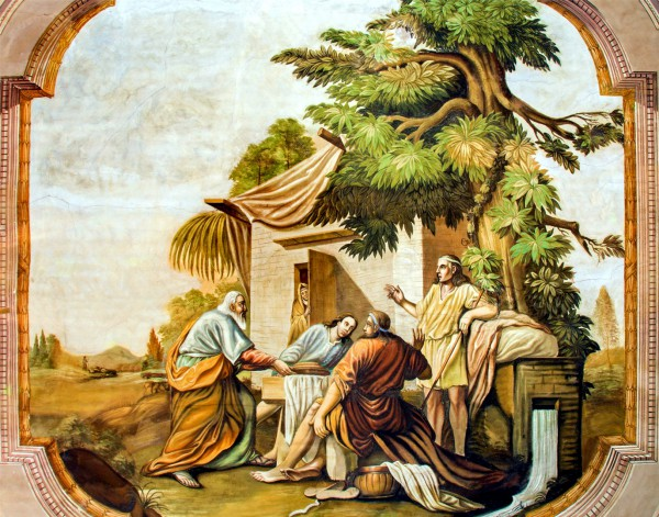 Three Angels Visiting Abraham, by Johann Lucas Kracker