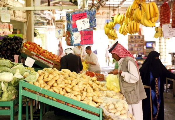 Souq in the city of Aqaba on the Red Sea in Jordan