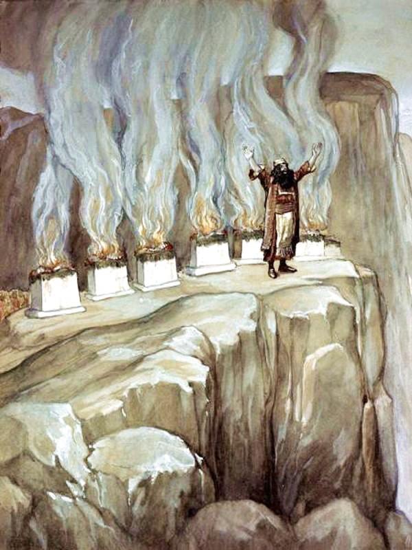 Balaam Prophesies the Glory of Israel, by James Tissot