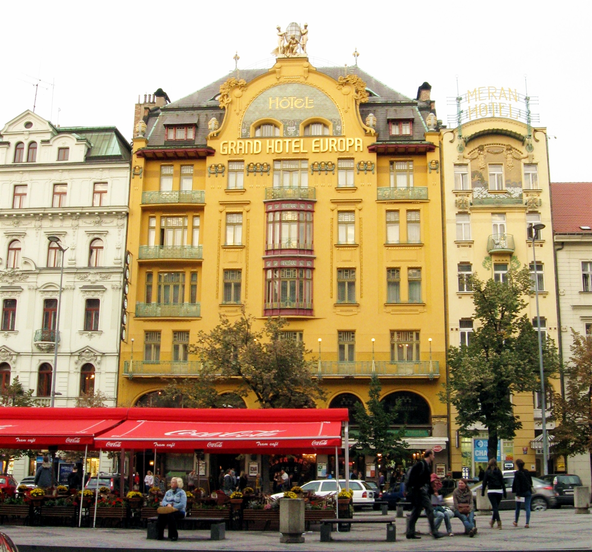 Grand Hotel Europa (Sroubek Hotel) in Prague where Nicholas Winton began making arrangements to bring children out of Czechoslovakia into Britain.