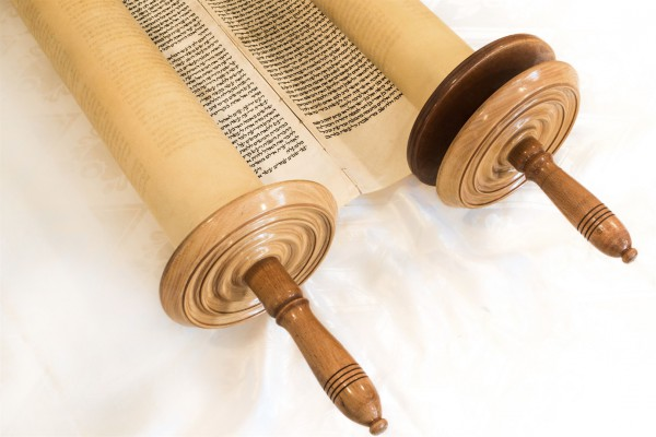 Handwritten Torah scroll