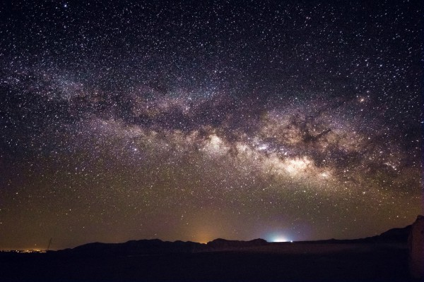 The Milky Way Galaxy over Israel's Negev Desert