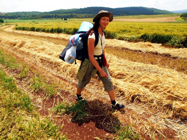 A woman hikes in the Hittin Region of Israel. (Israel Tourism photo by Tal Glick and Amir Moran)