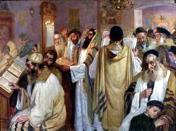 On the Eve of Yom Kippur, by Jakub Weinles