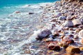 Stones along the shore of the Dead Sea