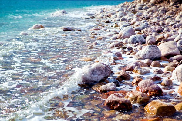 Stones along the shore of the Dead Sea