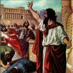 Jonah preaching in Nineveh (1919 Bible Primer)