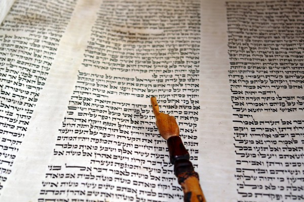 Torah and yad (Torah pointer) (Photo by Alexander Smolianitski)