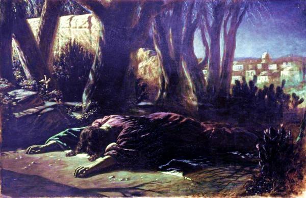 Messiah in the Garden of Gethsemane, by Vasily Grigorevich Perov