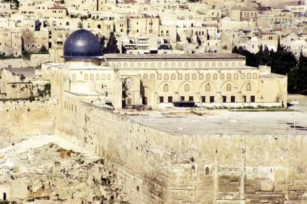 The Muslim world ranks the Al-Aqsa Mosque on the Temple Mount the third holiest place.