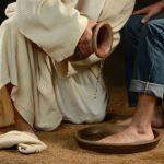 washing feet-jug-servant