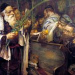 Sukkot in the Synagogue, by Leopold Pilichowski
