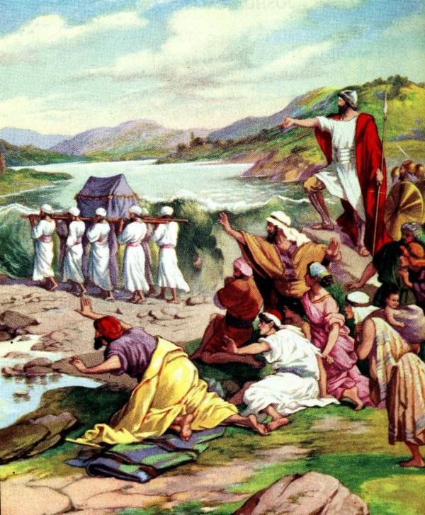 Crossing the Jordan (Bible Primer, 1919)