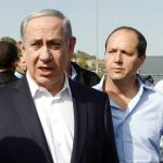 Israeli Prime Minister Netanyahu (left) and Jerusalem Mayor Nir Barkat (right)