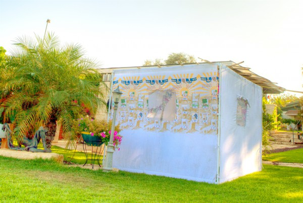 Fabric sukkah (Go Israel photo by Dana Friedlander)