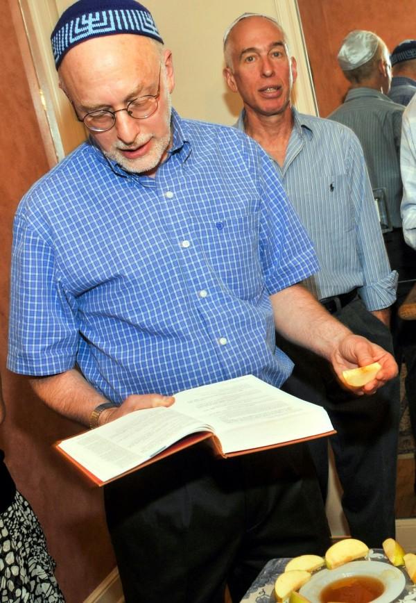 Rosh HaShanah apples and honey-blessing