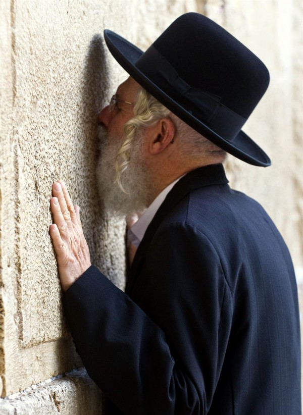 kissing the stones of the Kotel