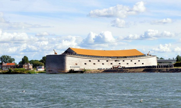 This full size interpretation of Noah's Ark, which was built by Dutch millionaire Johan Huibers, is in Dordrecht, Netherlands.