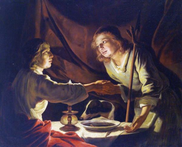 Mess of Pottage-Esau Sold Jacob his Birthright by Matthias Stom